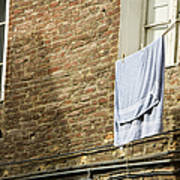 Laundry Hanging From Line, Tuscany, Italy Poster by Paul Edmondson