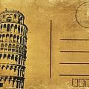 Leaning Tower Of Pisa Postcard Poster by Setsiri Silapasuwanchai