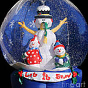 Let It Snow Poster by Christine Till