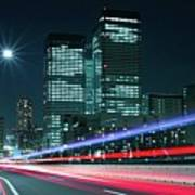 Light Trails On The Street In Tokyo Poster by >>>>sample Image>>>>>>>>>>>>>>