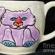 Lightning Nose Kitty Mug Poster by Joyce Jackson