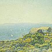 L'ile Du Levant Vu Du Cap Benat Poster by Theo van Rysselberghe