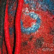 Lined Up Reds     Poster by Alexandra Jordankova