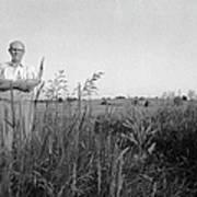 Lloyd Owens On His Farm Poster by Jan W Faul