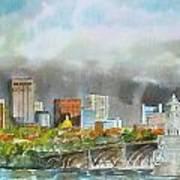 Longfellow Bridge Boston Poster by Harding Bush