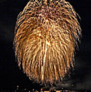 Lopez Island Fireworks 1 Poster by David Salter