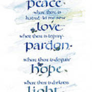 Lord Peace Poster by Judy Dodds
