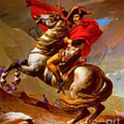 Louis Napoleon At The St Bernard Pass Poster by Pg Reproductions