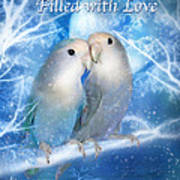 Love At Christmas Card Poster by Carol Cavalaris