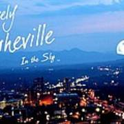 Lovely Asheville Poster by Ray Mapp
