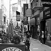 Maiden Lane San Francisco California - 5d19376 - Black And White Poster by Wingsdomain Art and Photography