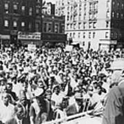 Malcolm X, Speaking To An Outdoor Rally Poster by Everett