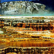 Mammoth Terrace - Yellowstone Poster by Ellen Heaverlo