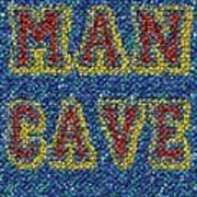 Man Cave Bottle Cap Mosaic Poster by Paul Van Scott