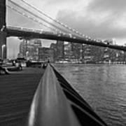 Manhattan Bridge Poster by Nina Mirhabibi
