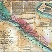 Map Of The West Coast Of Africa Poster by Everett