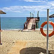 Marbella Beach In Spain Poster by Artur Bogacki