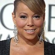 Mariah Carey Wearing Chopard Earrings Poster by Everett