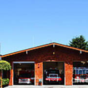 Marin County Fire Department . Point Reyes California . 7d15919 Poster by Wingsdomain Art and Photography