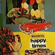 Massive Happy Times Poster by Adam Kissel