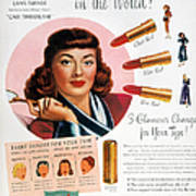 Max Factor Lipstick Ad Poster by Granger