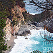 Mcway Falls In Spring Poster by Tonia Noelle