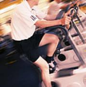 Men Exercising Poster by Mark Sykes