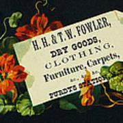 Merchant Trade Card, C1880 Poster by Granger