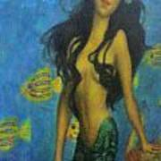 Mermaid Poster by Alexandro Rios