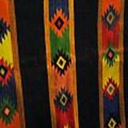 Mexican Throw Rug Colorful Poster by Unique Consignment