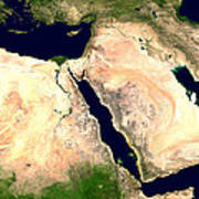 Middle East Poster by Nasa