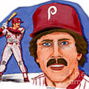 Mike Schmidt-color Poster by Chris  DelVecchio