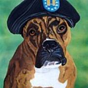Military Boxer Poster by Debbie LaFrance