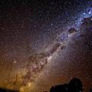 Milky Way Down Under Poster by Charles Warren