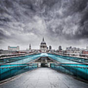 Millenium Bridge London Poster by Martin Williams
