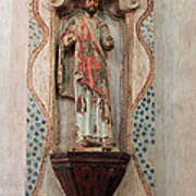 Mission San Xavier Del Bac - Interior Sculpture Poster by Suzanne Gaff