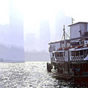Mist Over Victoria Harbour Poster by Enrique Rueda