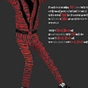 Mj_typography Poster by Mike  Haslam