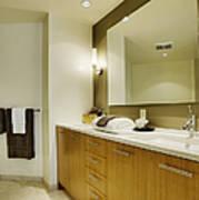 Modern Bathroom Interior Poster by Andersen Ross