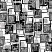 Monochrome Squares Poster by Louisa Knight