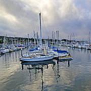 Monterey Harbor Marina - California Poster by Brendan Reals