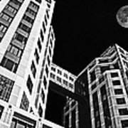 Moon Over Twin Towers 2 Poster by Samuel Sheats