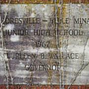 Mooresville - Belle Mina Junior High School 1967 Poster by Kathy Clark