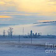 Morning Landscape In Winter Poster by Gabriela Insuratelu