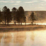 Morning Mists Poster by Corinna Stoeffl, Stoeffl Photography