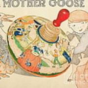 Mother Goose Spinning Top Poster by Glenda Zuckerman
