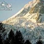 Mountain Christmas 2 Austria Europe Poster by Sabine Jacobs