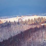 Mountain Landscape In Brasov County Poster by Gabriela Insuratelu