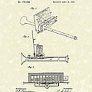 Mouth Organ 1876 Patent Art Poster by Prior Art Design