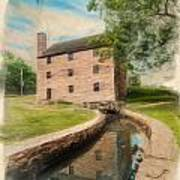 Mt. Vernon Gristmill Art Poster by Jim Moore